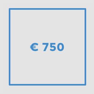 € 750